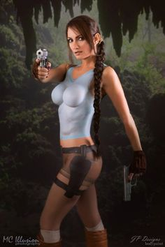 "sci-fi-hotties: ""Lara Croft body paint """