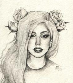 tumblr+drawings | lady gaga drawing on Tumblr