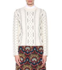 mytheresa.com - Embellished wool and alpaca sweater - Luxury Fashion for Women / Designer clothing, shoes, bags