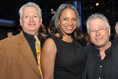 Harvey Fierstein, Audra McDonald and Alan Menken (l. to r.) at the 2014 Tony Nominees Luncheon at NYC's @Paramount Communication Hotel on May 20.
