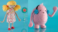 Handmade characters made by Maggie Rogers, Fred & Eric's Creative Director. http://www.maggierogers.co.uk/design-and-direction/the-little-cuddle/