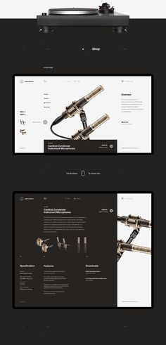 Minimalist Web Design Project for Audio-Technica.