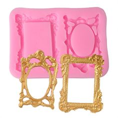 3D Vintage Picture Frame Cake Mold Chocolate Candy Biscuit Baking Silicone Mould #Unbranded