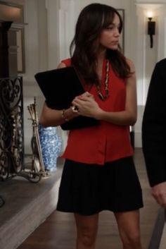 """Ashley's Derek Lam Silt Neck Blouse  Revenge Season 2, Episode 17: """"Victory"""""""