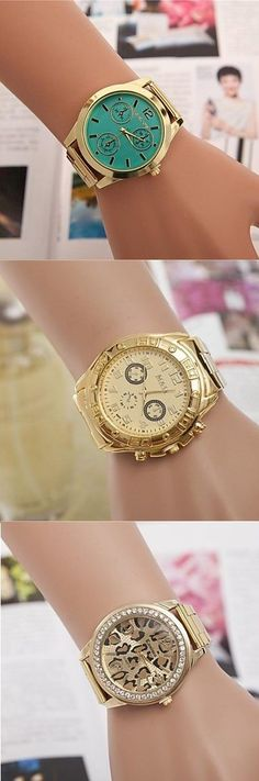 It's all about fashion, not time. Perfect golden watches to make a statement. Click on the picture to check the details.: