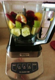 04-12-12 Lori's Detox/Cleansing Drink. Ingredients: cucumber, lemon, beet, celery, fresh herb.
