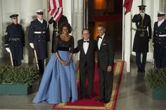 Michelle Obama chooses Carolina Herrera for state dinner dress