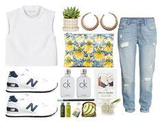 """OOTD"" by shinsaito ❤ liked on Polyvore featuring Monki, H&M, New Balance, Mary Katrantzou, Calvin Klein, NARS Cosmetics, Crate and Barrel and Chicnova Fashion"