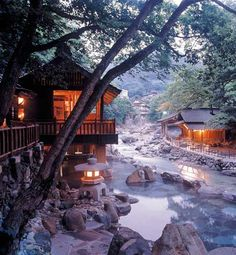 Read an overview of Japanese hot-spring bathing, onsen: where they are, how to book, onsen listings, getting there and bathing etiquette. Japanese Spa, Japanese Style, Japanese Hot Springs, Hot Tub Backyard, Gunma, Countries To Visit, Visit Japan, Japanese Architecture, Beautiful Places To Travel