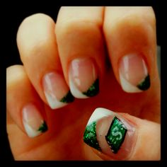 Love the tips. Get Nails, How To Do Nails, Hair And Nails, Mani Pedi, Manicure, Go Rider, Saskatchewan Roughriders, Spring Nail Art, Fabulous Nails