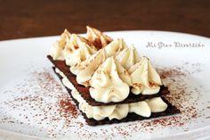 Mi Gran Diversión: Milhojas de chocolate y crema de castañas (casera)