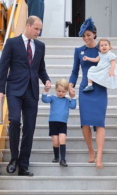 Kate dazzles in blue and gives a sartorial nod to Canada as she arrives for royal tour