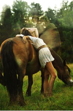 beautiful photo of a girl and her trusty steed #horses
