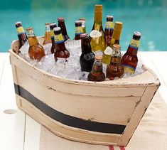 nautical themed party....thinking it would be adult pirate theme. looks like alcohol beverages.....arrrrr....walk the plank me hardy. lol:)