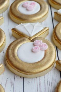 Wedding Shower Cookies, Wedding Cake Cookies, Bridal Shower, Baby Shower, Iced Cookies, Sugar Cookies, Owl Cookies, Bolacha Cookies, Engagement Cookies