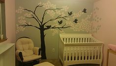 Olivias grey and pink baby room!