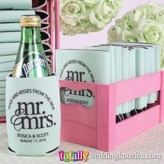 Custom printed #wedding #koozies, the perfect favors for your big day!