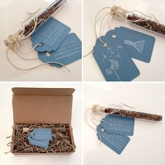 TEST TUBE & WILDFLOWER SEED SAVE THE DATES