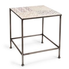 Carreaux d'antan metalen koffietafeltje 35 x 41 cm
