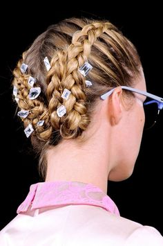 Jewel Hair Clips The clips stuck in the braids at Honor = so gorg.