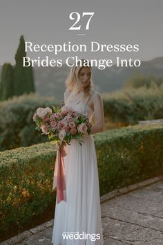 21 Reception Dresses Brides Changed Into for Their Parties Bride Reception Dresses, Second Wedding Dresses, Second Weddings, Wedding Reception, Wedding Bride, Red Lip Makeup, Martha Stewart Weddings, Brides, Parties