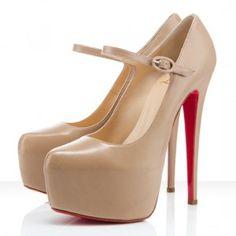 Christian Louboutin Lady Daf Platform Mary Jane Pumps Red Bottom Shoes