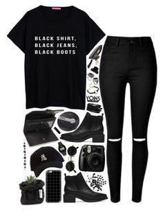 """Yoins // Black"" by ritaflagy ❤ liked on Polyvore featuring Casetify, INC International Concepts, Casio, Sony and The New Black"