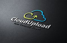 Cloud Upload Logo Templates **About Logo Template Download**---A fully editable and resizable vector logoHorizontal and vert by Creative Dezing