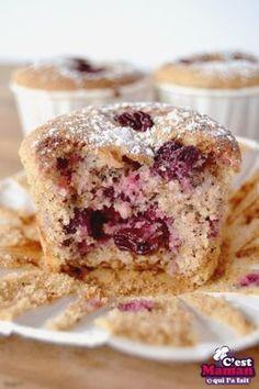 Muffins aux Cerises et Noisettes