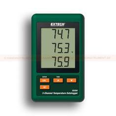 http://handinstrument.se/termometer-r1288/3-kanals-temperatur-datalogger-53-SD200-r1542  3-kanals temperatur-datalogger  LCD-display visar samtidigt 3 Typ-K temperatur-kanaler  Datalogger sparar avläsningar på ett SD-kort i Excel ®-format för enkel överföring till en dator  Valbar dataregistreringsfrekvens: 5, 10, 30, 60, 120, 300, 600 sekunder eller Auto  Komplett med sex AAA-batterier, 2G SD kort, AC adapter, tre Typ-K temperaturgivare och väggfäste/bordsstativ Garanti: 2 År