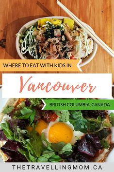 The multicultural and vibrant west coast city of Vancouver, Canada, is filled with incredible places to eat and nosh with kids in tow. From apple pie to ramen noodles, pizza to poutine, here's our guide on where to find the best and most family-friendly r Canada Cruise, Canada Travel, Columbia Travel, Vancouver Travel, Vancouver British Columbia, Alberta Canada, Quebec, West Coast Cities, Toronto