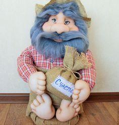 Купить Домовой - кукла ручной работы, кукла в подарок, кукла интерьерная, домовой, Домовенок Кузя