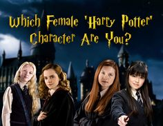 Check it out Potter Heads! Which Female 'Harry Potter' Character Are You? Harry Potter Riddles, Harry Potter Female Characters, Harry Potter Character Quiz, Harry Potter Witch, Harry Potter House Quiz, Harry Potter Girl, Lily Potter, Harry Potter Houses, Harry Potter Books