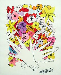 flowers and gloves. amaze. andy warhol.