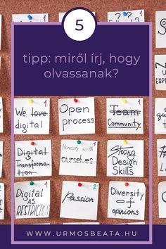 5 tipp: miről írj, hogy olvassanak? Passion, Digital, Design
