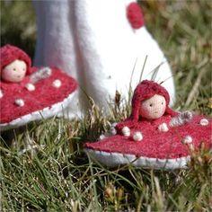 Mushroom Fairy | Faerie Dolls | Garden Fairy Dolls | Imagination Toys for Children