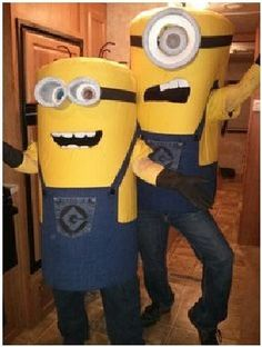 31 DIY Halloween Costume Ideas for Kids Diy Minion Costume, Minion Halloween Costumes, Halloween Diy, Minion Party, My Minion, Minion Dress, Holiday Fun, The Incredibles, Kids