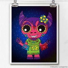 Dia De Los Muertos Cucuy by StudioLongoria on Etsy, $10.00