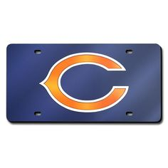Chicago Bears NFL Laser Cut License Plate Cover