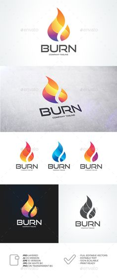 Flame Logo Template PSD, Vector EPS, AI. Download here: http://graphicriver.net/item/flame-logo/12946369?ref=ksioks