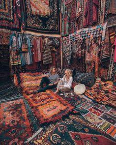 Go shopping for magic carpets in Gerome, Cappadocia, Turkey Turkey Resorts, Turkey Weather, Turkey Culture, Happy New Year Friends, Visit Turkey, Carpet Shops, Cappadocia Turkey, Road Trip, Wanderlust