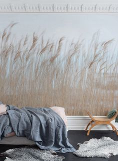 Wall Mural Swaying Reed image 3 by Rebel Walls Lines Wallpaper, Wall Wallpaper, Interior Architecture, Interior Design, Wall Treatments, Art Of Living, Decoration, Shag Rug, Wall Murals