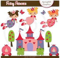 Instant Download Fairytale Princess Digital by SpringHillGraphics, $5.00