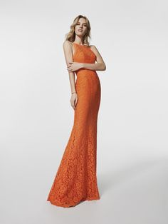 Foto dell abito da cerimonia arancione (62027) Abiti Sirena 88652677651