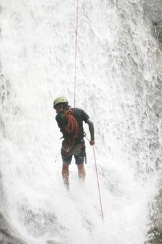 Getting nice and wet whilst canyoning in Nepal www.grgadventurekayaking.com