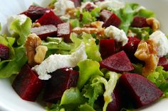 Beet, Goat Cheese and Walnut recipe from UNL Extension