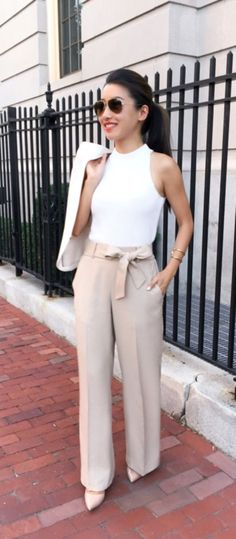 100 Unboring Summer Work Outfits for 2018 - Aww Outfits - Outfits for Work - Work Outfits Women Summer Business Casual Outfits, Work Casual, Summer Work Outfits Office, Summer Work Fashion, Office Fashion, Style Summer, Summer Work Dresses, Casual Fall, Business Professional Outfits