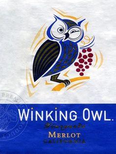 Winking Owl - Merlot #vino #wine #naming #packaging
