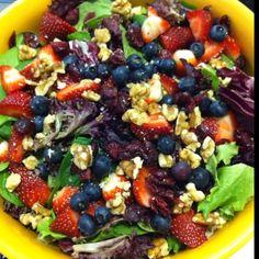 Mixed berry and walnut salad