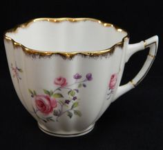 "Victoria C&E Bone China England #283 Flat Cup 2-3/4"", Victoria China"